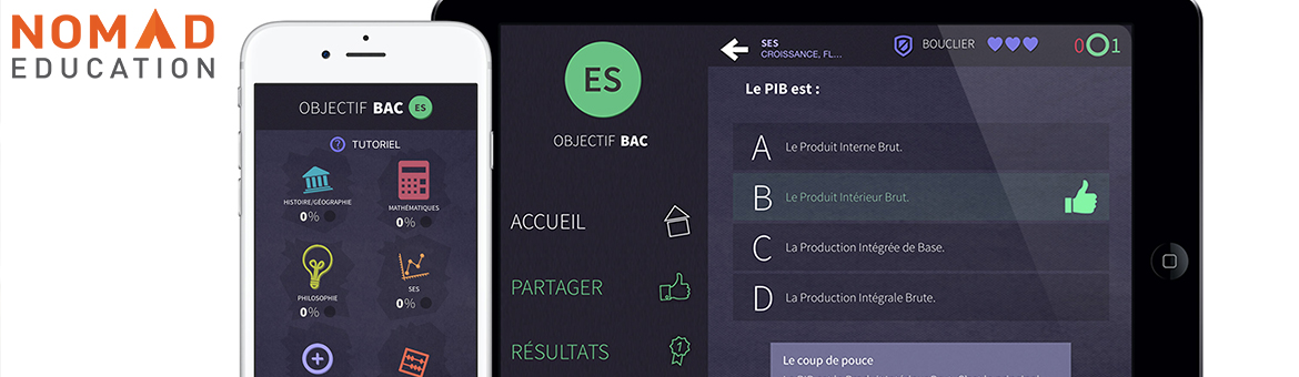 NomadEducation startup edtech application révision