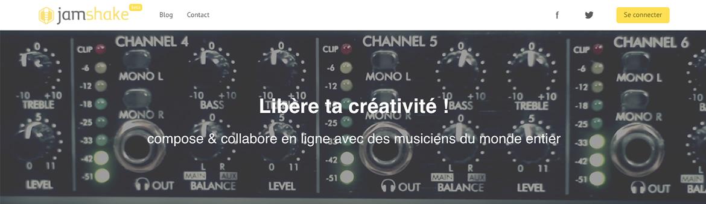 jamshake plateforme collaborative musique