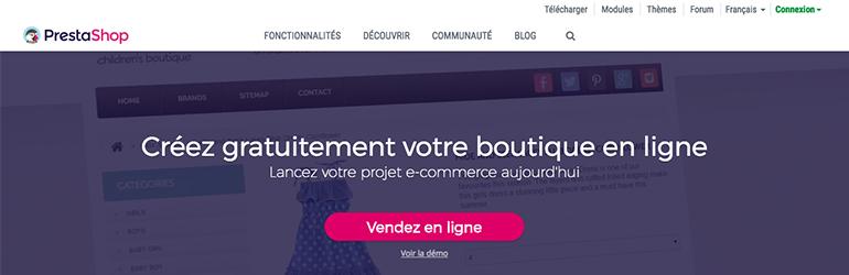 prestashop e-commerce outils