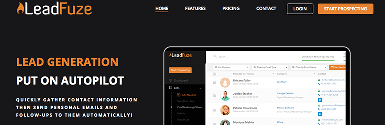 leadfuze startup outils