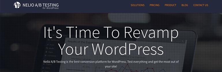 nelio a/B testing pour wordpress