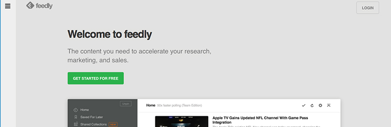 feedly outils startup