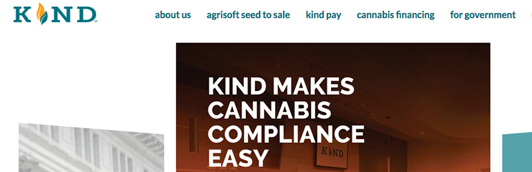 Kind financial startup legal weed