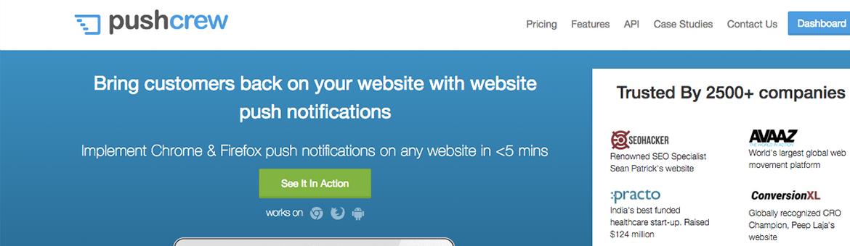 notification dans le navigateur web