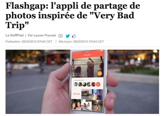 flashgap startup relation presse