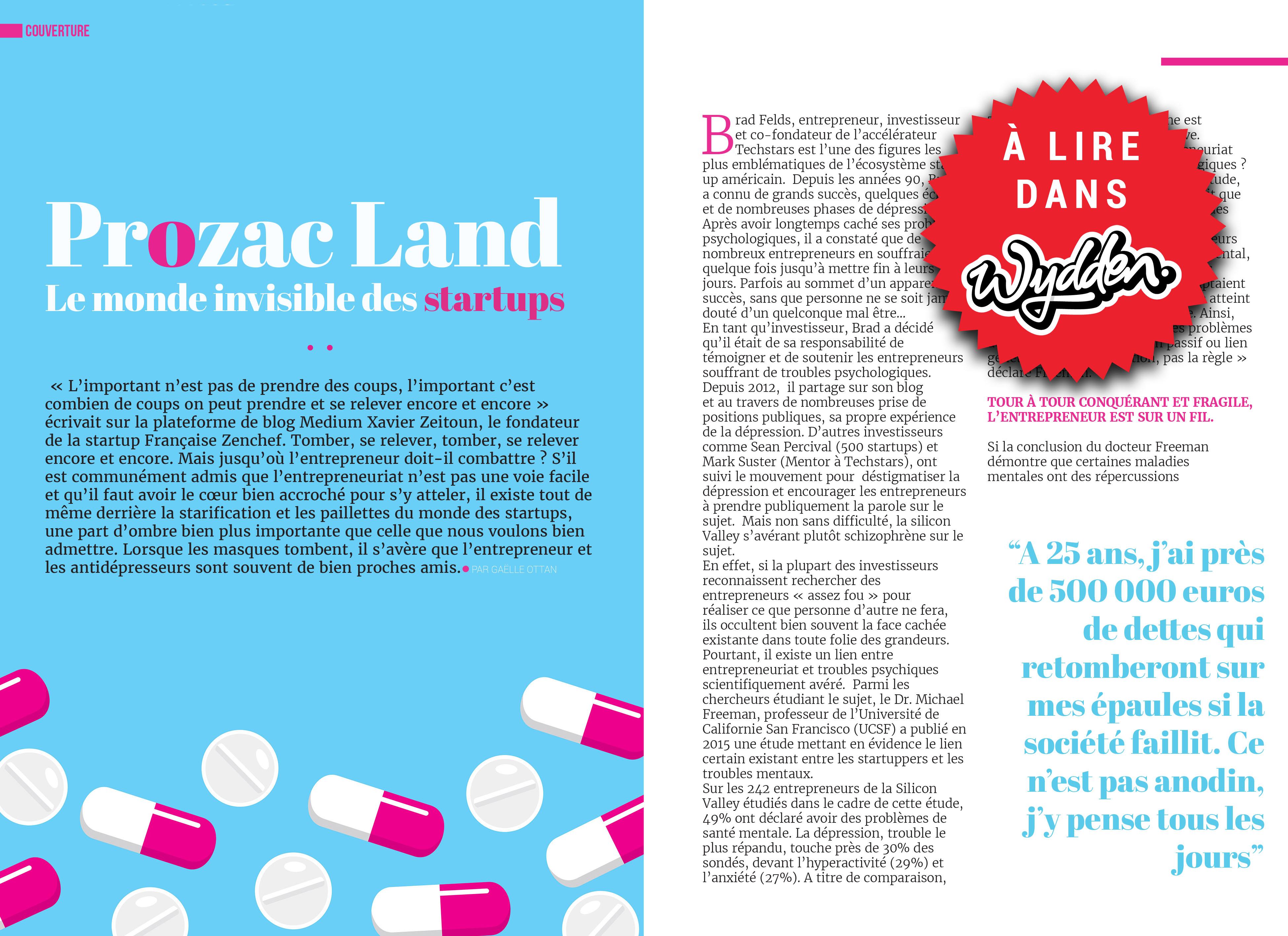 prozacland suicide startup wydden magazine