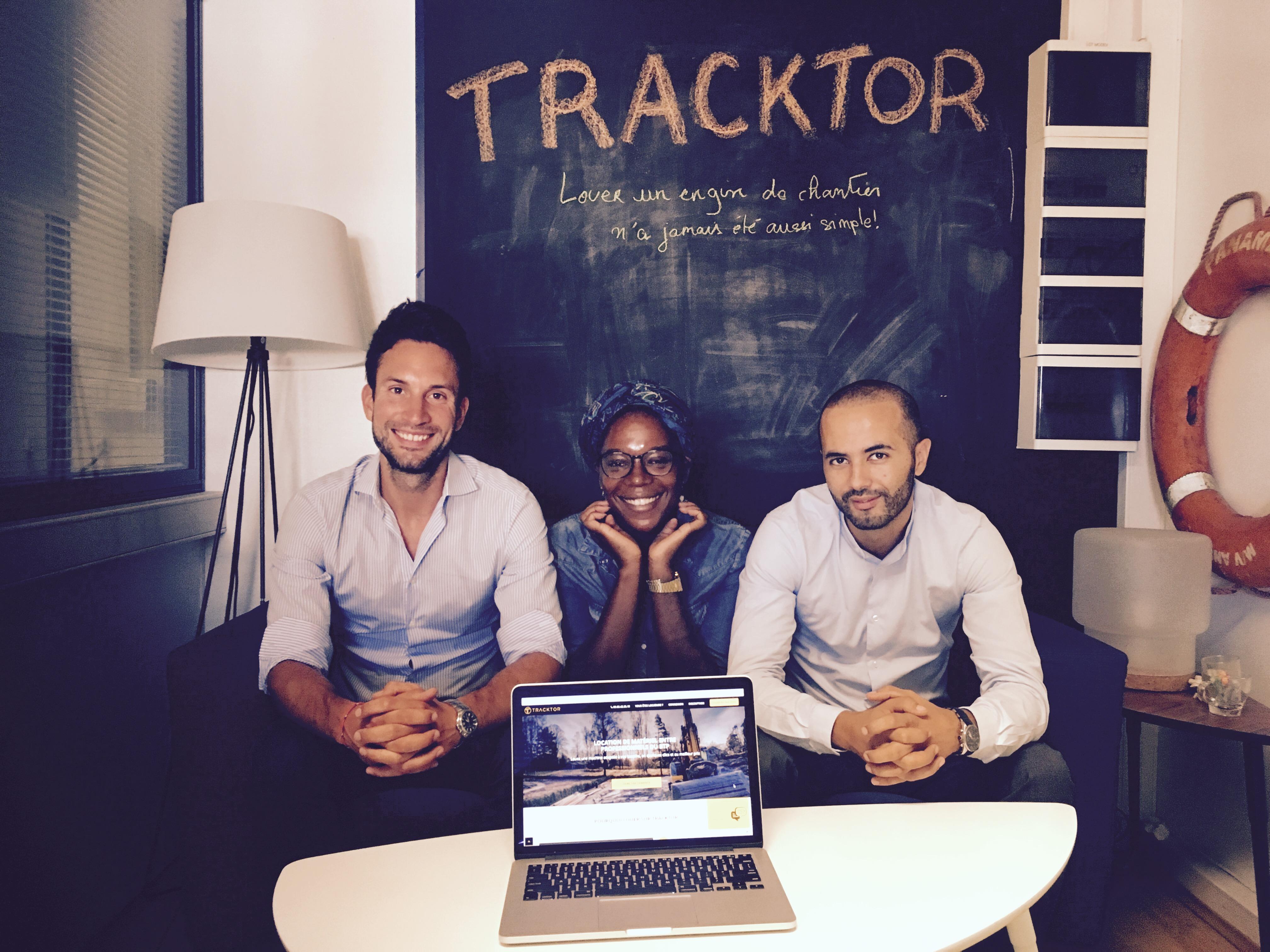 tracktor startup BTP equipe