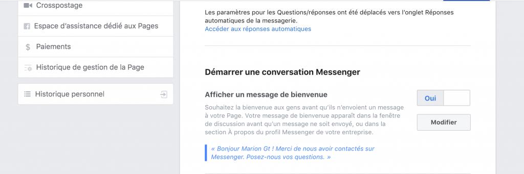Entreprise - Comment ouvrir automatiquement une fenêtre chat sur une page Facebook ?
